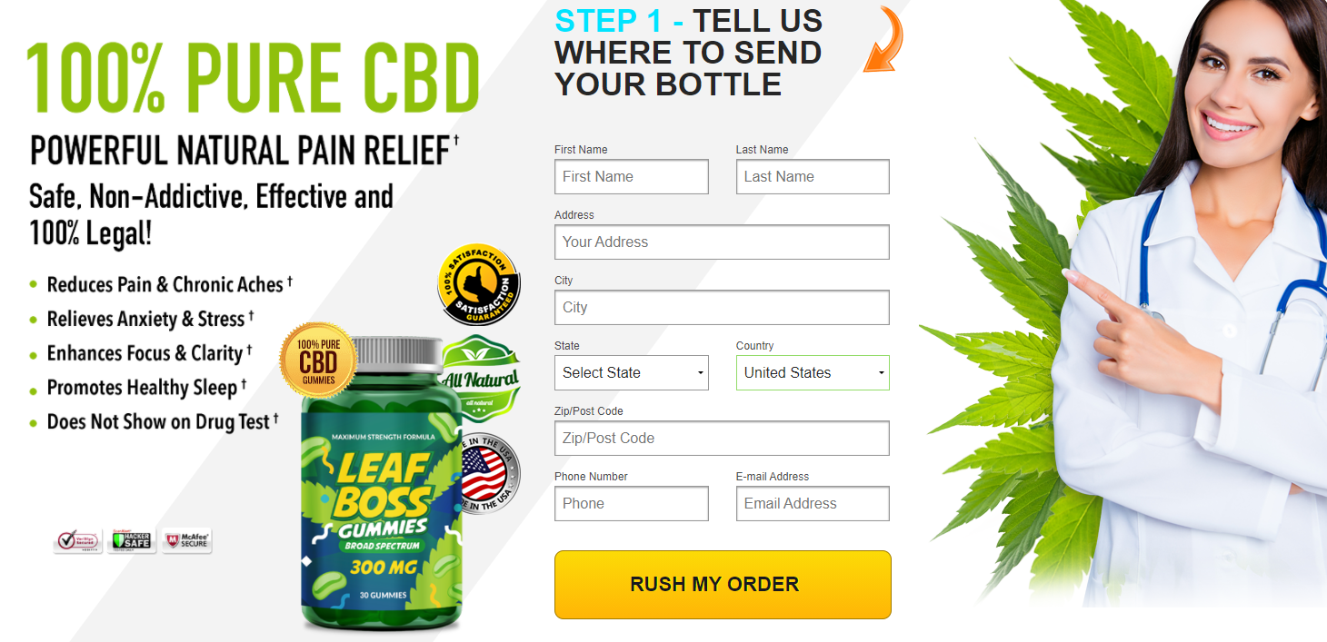 Leaf Boss CBD Gummies Reviews 100% Natural Read Leaf Boss Gummies, Benefits  Works, Uses, Price & How Much! – Business